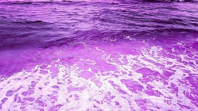 Photograph - Ocean Of Purple by Rachel Hannah