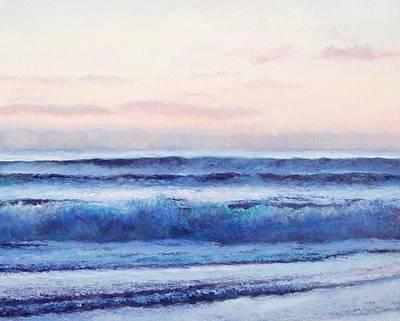 Bathroom Wall Art Painting - Ocean Painting 'dusk' By Jan Matson by Jan Matson