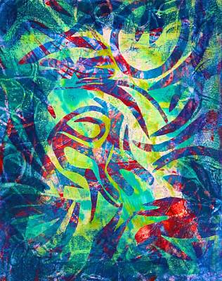 Painting - Ocean Petroglyphs by Polly Castor
