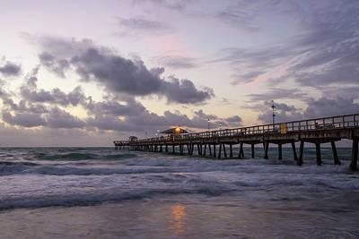 Ocean Pier Sunrise Art Print