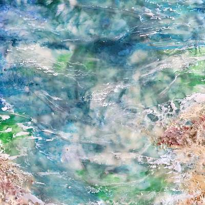 Mixed Media - Ocean Pool by Anne Stine
