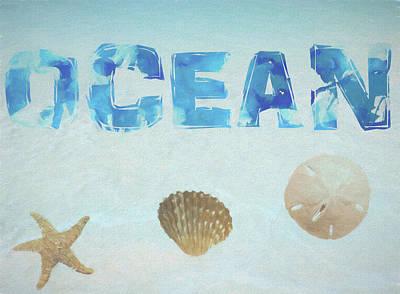 Beach Mixed Media - Ocean Postcard by Dan Sproul