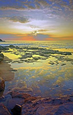 Photograph - Ocean Puddles At Sunset On Molokai by Tara Turner