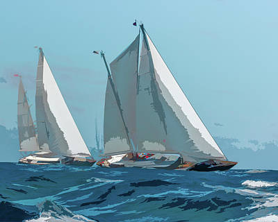 Photograph - Ocean Race by Michael Arend