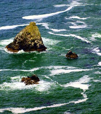 Ocean Rock Print by Marty Koch