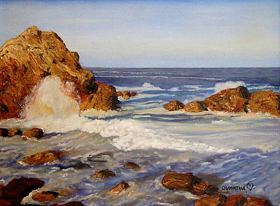 Painting - Ocean Rock by Quwatha Valentine