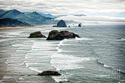Photograph - Ocean Rocks Off The Oregon Coast by Lincoln Rogers