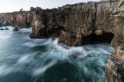 Photograph - Ocean Rush - Boca Do Inferno - Hells Mouth - Seacliff Chasm At Cascais Portugal by Georgia Mizuleva