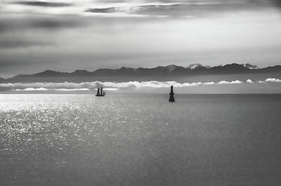 Photograph - Ocean Sailing - Black And White by Marilyn Wilson