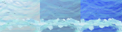 Digital Art - Ocean-sky Panel by SC Heffner