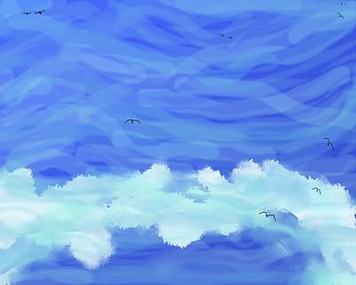 Photograph - Ocean-sky by SC Heffner