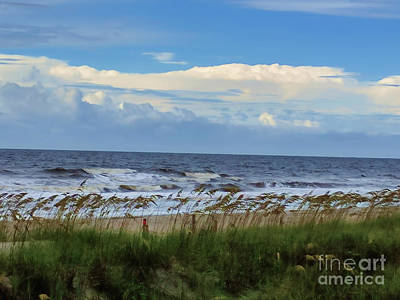 Photograph - Ocean, Sky, Sea Oats by Roberta Byram
