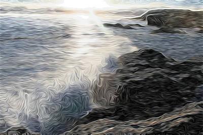 Ocean Splash Art Print by Carol Crisafi