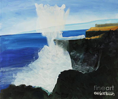 Ocean Spray At Blowhole Art Print by Katie OBrien - Printscapes
