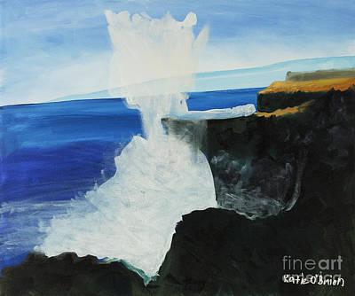Ocean Spray At Blowhole Art Print