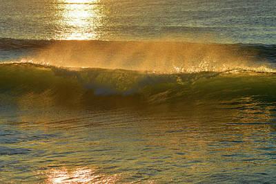 Undertow Photograph - Ocean Spray At Sunrise by Dianne Cowen