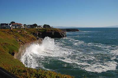 Photograph - Ocean Spray In Santa Cruz by Garnett  Jaeger