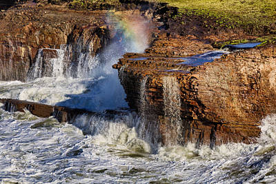 Photograph - Ocean Spray Rainbow by Kathleen Bishop