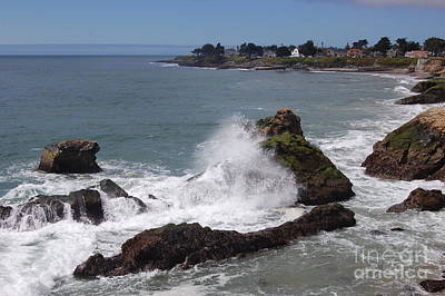 Ocean Spray West Cliff Art Print