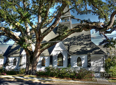 Photograph - Ocean Springs Church by David Bearden