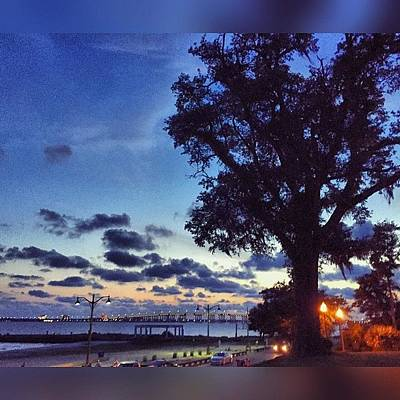 Artwork Wall Art - Photograph - Ocean Springs Evening #frontbeach by Joan McCool