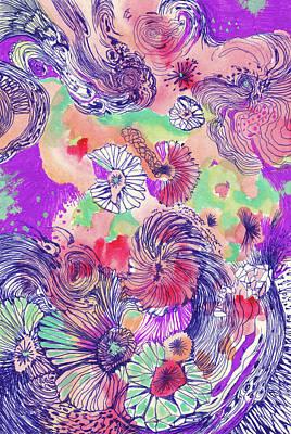 Ocean - #ss18dw010 Art Print by Satomi Sugimoto