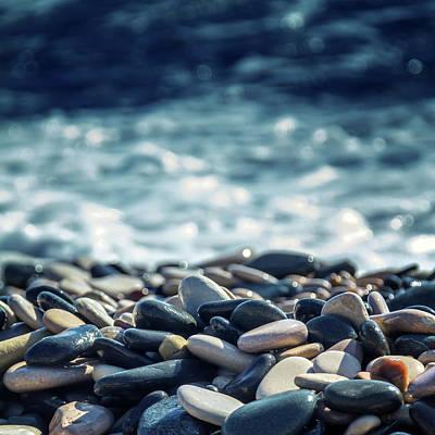 Abstract Beach Landscape Photograph - Ocean Stones by Stelios Kleanthous