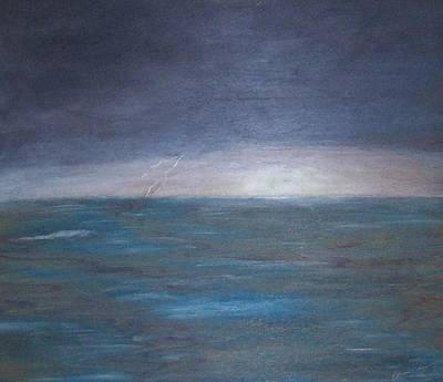 Painting - Ocean Storm by Patricia Brewer-Cummings