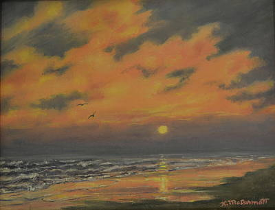 Painting - Ocean Sundown by Kathleen McDermott