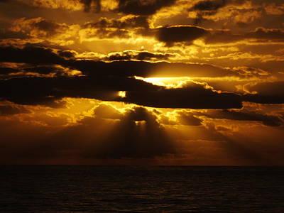 Outer Banks Rodanthe, Nc Golden Sunrise B Art Print