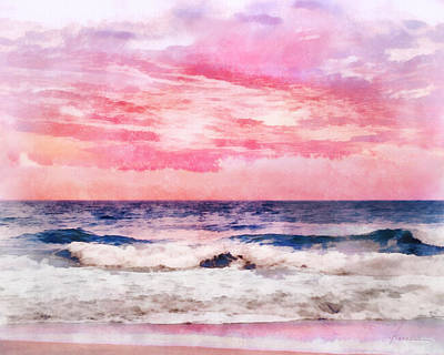 Ocean Sunrise Art Print by Francesa Miller