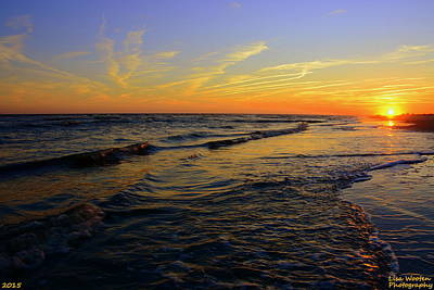 Photograph - Ocean Sunrise by Lisa Wooten