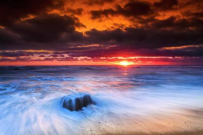 Storm Clouds Cape Cod Photograph - Ocean Sunrise March 30 2017 by Dapixara Art