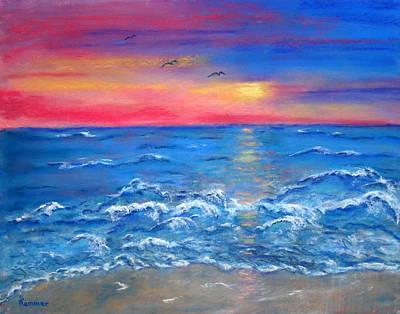 Ocean Sunrise Art Print by Sandy Hemmer