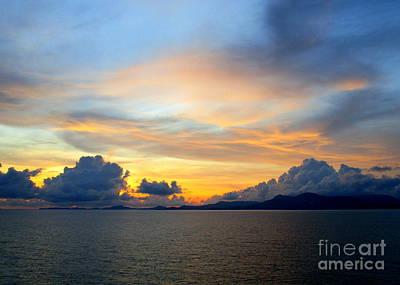 Photograph - Ocean Sunset 23 by Randall Weidner