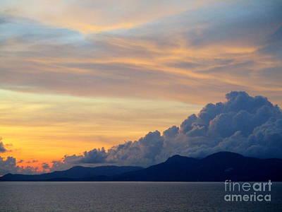 Photograph - Ocean Sunset 25 by Randall Weidner