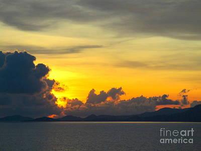 Photograph - Ocean Sunset 27 by Randall Weidner