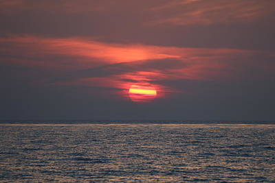Photograph - Ocean Sunset - 5 by Christy Pooschke