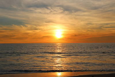 Photograph - Ocean Sunset - 9 by Christy Pooschke