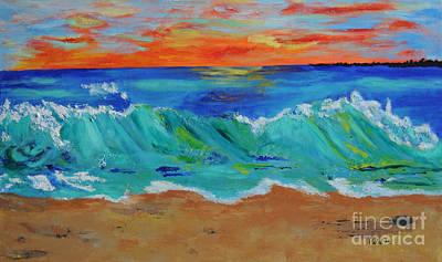 Painting - Ocean Sunset by Haleh Mahbod