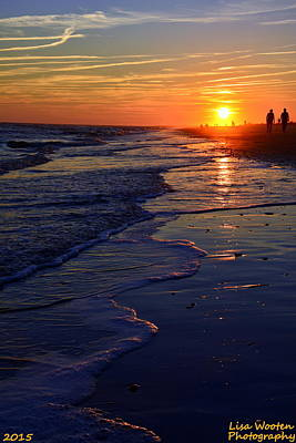 Photograph - Ocean Sunset by Lisa Wooten