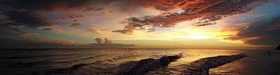 Photograph - Ocean Sunset Panorama by Shari Jardina