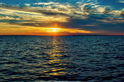 Photograph - Ocean Sunset by Robert Brown