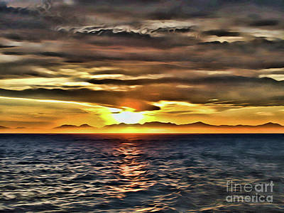 Photograph - Ocean Sunset by Steven Parker