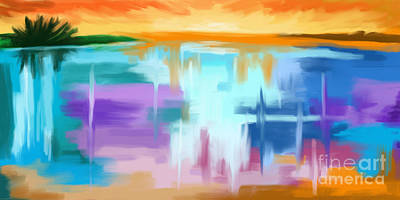 Painting - Ocean Sunset by Tim Gilliland