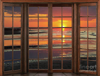 Photograph - Ocean Sunset Window by Patricia L Davidson