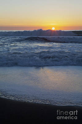 Photograph - Ocean Wave Kisses The Sun by Sharon Foelz