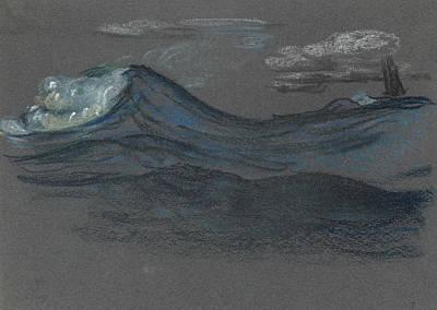 Pastel - Ocean Swells by Arthur Bowen Davies