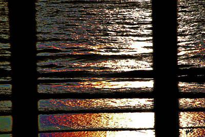 Photograph - Ocean Through Rails by Gina O'Brien