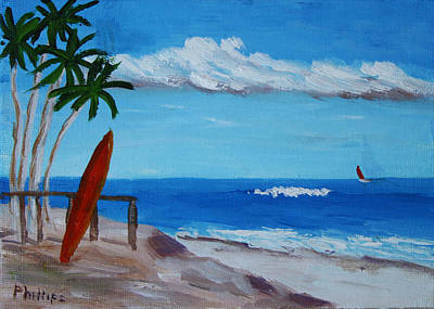 Surf The Rincon Painting - Ocean View by Bob Phillips